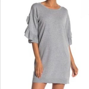 Max Studio Ruffle Sleeve Sweater Dress NWT